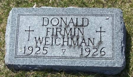 WEICHMAN, DONALD FIRMIN - Benton County, Iowa   DONALD FIRMIN WEICHMAN