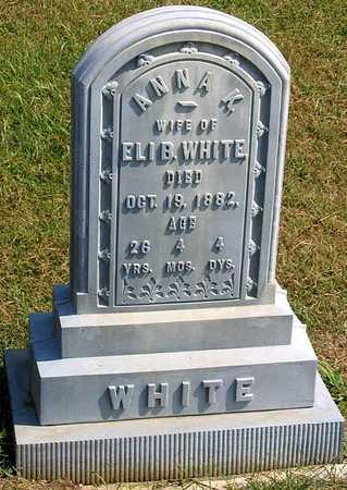 WHITE, ANNA K. - Benton County, Iowa | ANNA K. WHITE