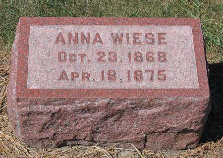 WIESE, ANNA - Benton County, Iowa | ANNA WIESE
