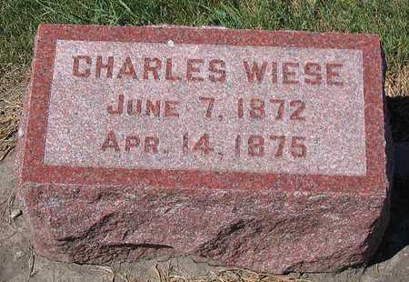 WIESE, CHARLES - Benton County, Iowa   CHARLES WIESE