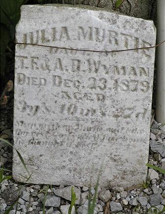 WYMAN, JULIA MURTIE - Benton County, Iowa | JULIA MURTIE WYMAN