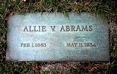 ABRAMS, ALLIE V. - Black Hawk County, Iowa   ALLIE V. ABRAMS