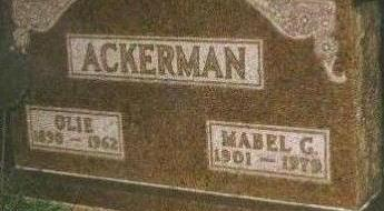 ELDRIDGE ACKERMAN, MABEL - Black Hawk County, Iowa | MABEL ELDRIDGE ACKERMAN