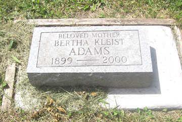 ADAMS, BERTHA - Black Hawk County, Iowa | BERTHA ADAMS