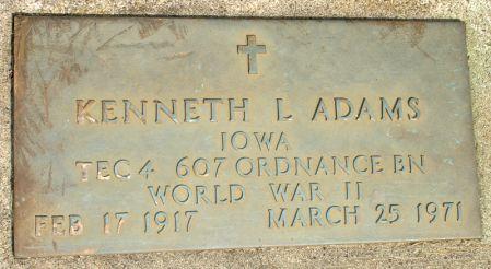 ADAMS, KENNETH L. - Black Hawk County, Iowa | KENNETH L. ADAMS