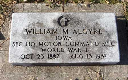 ALGYRE, SFC WILLIAM M. - Black Hawk County, Iowa | SFC WILLIAM M. ALGYRE