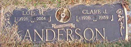 ANDERSON, CLARE J. - Black Hawk County, Iowa | CLARE J. ANDERSON