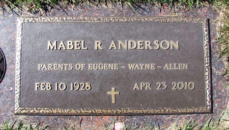 ANDERSON, MABEL R. - Black Hawk County, Iowa   MABEL R. ANDERSON