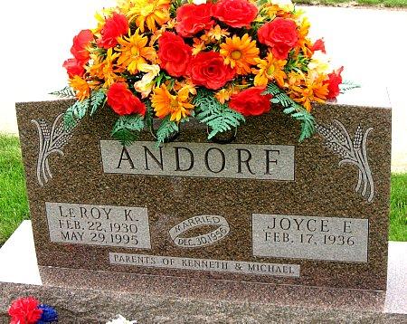ANDORF, LEROY K. - Black Hawk County, Iowa   LEROY K. ANDORF
