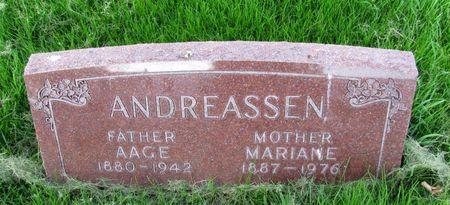 ANDREASSEN, AAGE - Black Hawk County, Iowa | AAGE ANDREASSEN