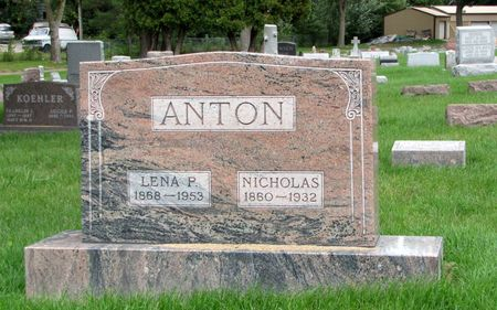 ANTON, LENA P. - Black Hawk County, Iowa | LENA P. ANTON