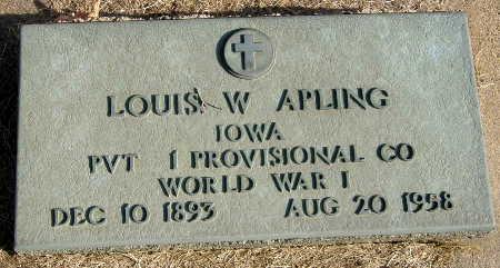 APLING, LOUIS W. - Black Hawk County, Iowa | LOUIS W. APLING
