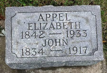 APPEL, ELIZABETH - Black Hawk County, Iowa | ELIZABETH APPEL