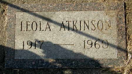 ATKINSON, LEOLA - Black Hawk County, Iowa | LEOLA ATKINSON