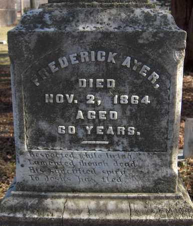 AYER, FREDERICK - Black Hawk County, Iowa   FREDERICK AYER