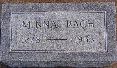 BACH, MINNA - Black Hawk County, Iowa   MINNA BACH