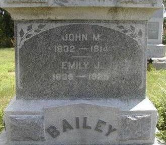 BAILEY, JOHN M. - Black Hawk County, Iowa | JOHN M. BAILEY