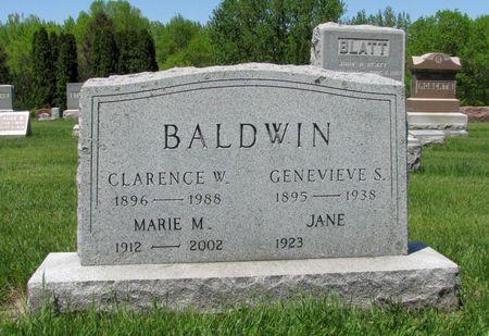 BALDWIN, GENEVIEVE S. - Black Hawk County, Iowa   GENEVIEVE S. BALDWIN