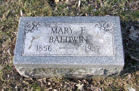 BALDWIN, MARY E. - Black Hawk County, Iowa | MARY E. BALDWIN