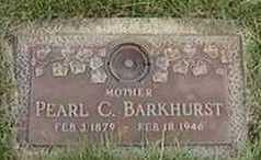 BARKHURST, PEARL C. - Black Hawk County, Iowa   PEARL C. BARKHURST