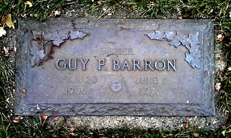 BARRON, GUY F. - Black Hawk County, Iowa | GUY F. BARRON