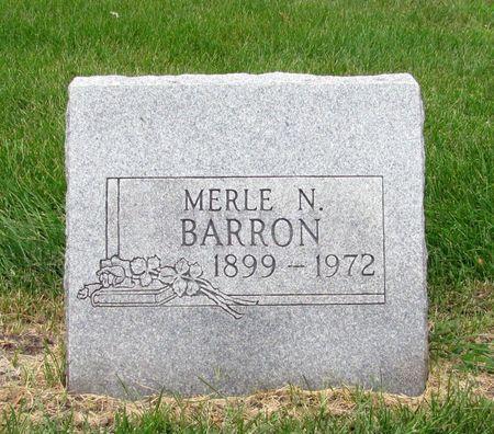 BARRON, MERLE N. - Black Hawk County, Iowa | MERLE N. BARRON