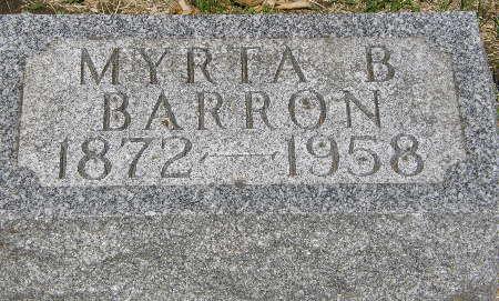 BARRON, MYRTA B. - Black Hawk County, Iowa | MYRTA B. BARRON