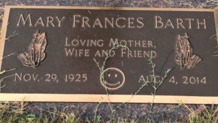 BARTH, MARY FRANCES - Black Hawk County, Iowa | MARY FRANCES BARTH
