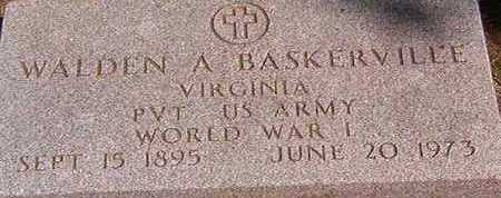 BASKERVILLE, WALDEN A. - Black Hawk County, Iowa   WALDEN A. BASKERVILLE