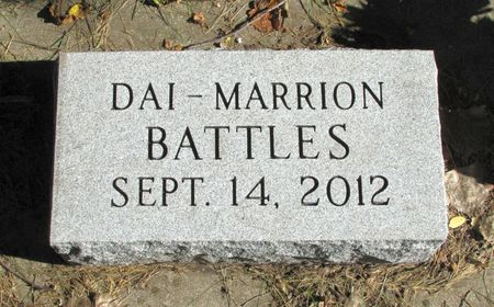BATTLES, DAI-MARRION - Black Hawk County, Iowa | DAI-MARRION BATTLES