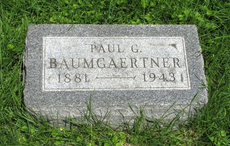 BAUMEISTER, PAUL G. - Black Hawk County, Iowa | PAUL G. BAUMEISTER