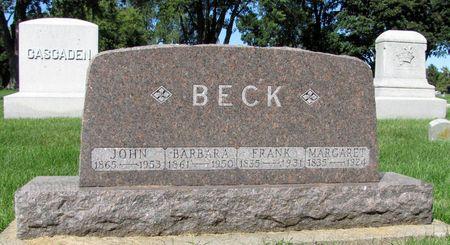 BECK, FRANK - Black Hawk County, Iowa | FRANK BECK