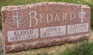 BEDARD, JOHN ALDRED - Black Hawk County, Iowa | JOHN ALDRED BEDARD