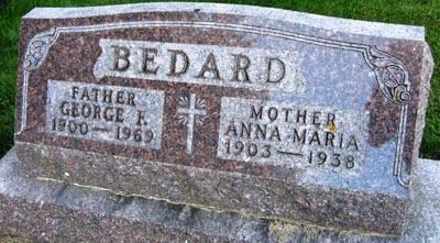 BEDARD, GEORGE F. - Black Hawk County, Iowa | GEORGE F. BEDARD