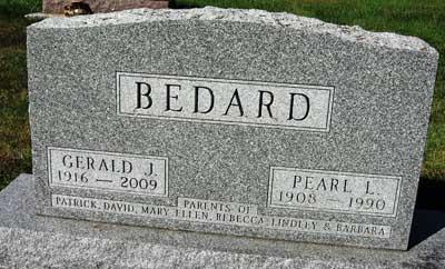 BEDARD, GERALD JOSEPH - Black Hawk County, Iowa | GERALD JOSEPH BEDARD
