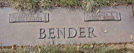 BENDER, JUANITA E. - Black Hawk County, Iowa | JUANITA E. BENDER