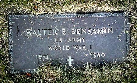 BENJAMIN, WALTER E. - Black Hawk County, Iowa | WALTER E. BENJAMIN