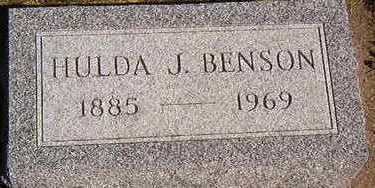 BENSON, HULDA J. - Black Hawk County, Iowa   HULDA J. BENSON