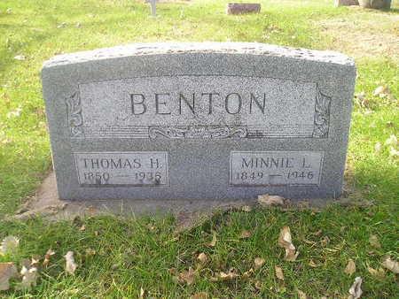 BENTON, THOMAS H - Black Hawk County, Iowa | THOMAS H BENTON