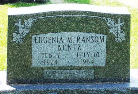 RANSOM BENTZ, EUGENIA M. - Black Hawk County, Iowa | EUGENIA M. RANSOM BENTZ