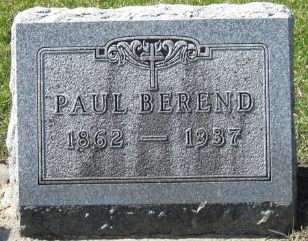 BEREND, PAUL - Black Hawk County, Iowa | PAUL BEREND
