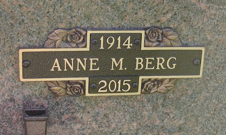 BERG, ANNE MARIE - Black Hawk County, Iowa | ANNE MARIE BERG