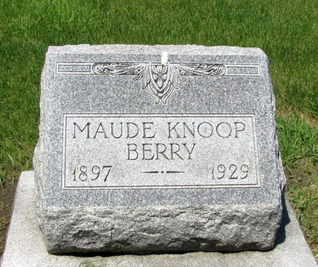 KNOOP BERRY, MAUDE - Black Hawk County, Iowa | MAUDE KNOOP BERRY