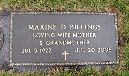 BILLINGS, MAXINE D. - Black Hawk County, Iowa | MAXINE D. BILLINGS