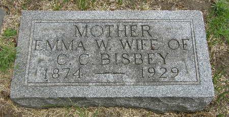 BISBEY, EMMA W. - Black Hawk County, Iowa   EMMA W. BISBEY