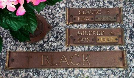 CLARK BLACK, MILDRED A. - Black Hawk County, Iowa | MILDRED A. CLARK BLACK