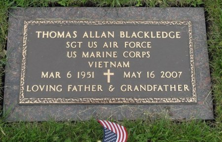 BLACKLEDGE, THOMAS ALLAN - Black Hawk County, Iowa | THOMAS ALLAN BLACKLEDGE