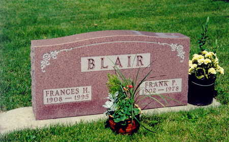 BLAIR, FRANCES HAZEL - Black Hawk County, Iowa | FRANCES HAZEL BLAIR