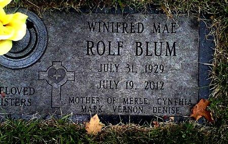 BLUM, WINIFRED MAE - Black Hawk County, Iowa | WINIFRED MAE BLUM