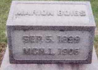 BOIES, MARION - Black Hawk County, Iowa | MARION BOIES